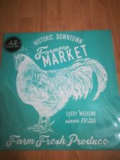 """NEW RETIRED Farmers Market rooster Chalk Couture transfer 18"""" x 18"""""""