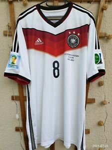Adidas DFB Deutschland Trikot WM 2014 Grösse M Özil Patches