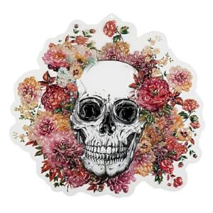 Floral DAY OF THE DEAD 3D Plastic WALL DECORATION Halloween - 50cm
