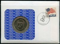 UNITED STATES 1967  FD TOKEN  COVER OPENING OF THE FRONTIER HOTEL WITH MEDAL