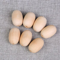 Chunky Olive Natural Wood Beads DIY Baby Unfinished Wooden Teether Unpainted