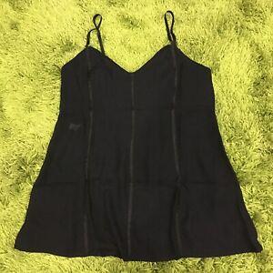 INTIMO Size M Chemise Slip Short Black Sheer