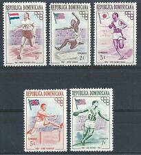 Dominican Republic 1957 Sc# 474-78 set Olympic games Melbourne MNH