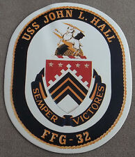 US Navy Decal - Sticker USS John L. Hall FFG - 32