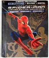 Spider-Man 1 2 3 Limited Edition [4K UHD Ultra HD Blu-ray / Bluray] Box-Set Book
