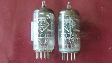 2x ECC83 tube Telefunken nearly same Code testet Funke W19 good