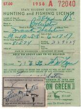 1956 RW23 Washington Hunting Fishing License Federal Duck Stamp free shipping