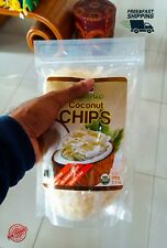 Natural Organic COCONUT CHIPS gluten and sugar free shipping and Tracking(200g)