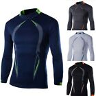 2017 New Mens Compression Under Base Layer Top Tight Long Sleeve Sports T-Shirts