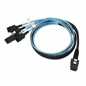 3.3FT (1M) Mini SAS 36 PIN SFF-8087 To 4 X SATA 7 Pin Forward Breakout Cable New