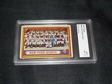 VERY RARE GRATED CARD 1957 Topps #317 New York Giants Team Card CMR GRATING 5 EX