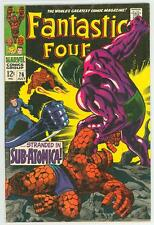 FANTASTIC FOUR 76 7.5 WHITE PAGES  NICE PAGES GLOSSY COVER SILVER SURFER RC