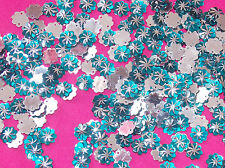 teal silver 15mm Sew On Stitch JEWEL GEM CRYSTAL RHINESTONE Bead Crystal DANCE
