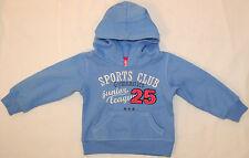 Kaputzenpullover Pulli blau mit Bauchtasche SportsClub Aufschrift Größe 74 - 80