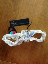 LUXURIOUS SILK GARTER SIZE MEDIUM-LARGE M&S ROSIE AUTOGRAPH IVORY W FRENCH LACE