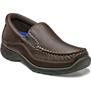 NEW IN BOX~STACY ADAMS~BOYS BROWN PORTER SLIP ON DRESS SHOES~LOAFERS~SIZE 3~NIB