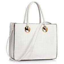 New Womens Wedding Designer Grab Handbags Ladies Style Faux Leather Shoulder Bag