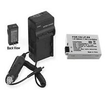 LP-E8 Battery + Charger for Canon EOS Rebel T3i 600D