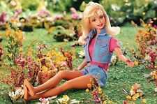 """ Being Outside "" - Fashion Collectible Photo Card Mattel - Barbie Doll Postcard"