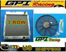 3 row Aluminum Radiator 1964-1966 FORD MUSTANG V8 260 289 AT MT 1965 64 & fan