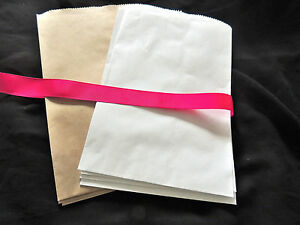 30 6x9 White, Kraft or Both Party Paper Merchandise Bags, Party Favor Gift Bags!