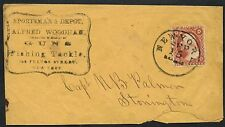 #26 WITH NEW YORK CDS VF ON EARLY GUN & FISHING TACKLE ADVERTISING COVER BT5624