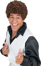 Jheri Curl Tight Afro Wig Hair Dark Brown Fro Adult Halloween Costume Accessory