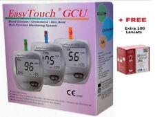 EasyTouch GCU Glucose Cholesterol Uric Acid Blood Test Monitoring 3in1 System r