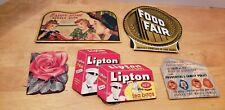 5VINTAGE 1950's 60s SEWING NEEDLE BOOKS Lipton Happy Home Food Fair