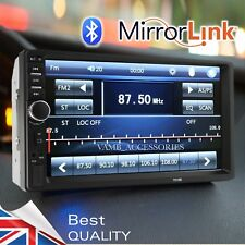 """⭐ BEST IN THE WORLD 7"""" CAR STEREO HEAD UNIT TOUCH SCREEN MIRROR LINK DOUBLE DIN"""