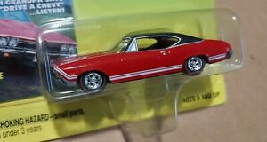 Johnny Lightning 68 Super Chevy Chevelle SS 1/64 die cast red