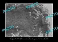 OLD POSTCARD SIZE PHOTO GALLIPOLI WII, THE NEW ZEALAND MILITARY MAORI CAMP 1915