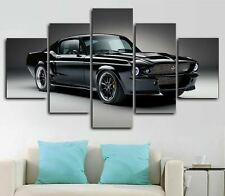 1967 Ford Mustang Charge Car 5 Piece Canvas Wall Art Poster Print Home Decor