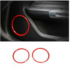 Red Car Door Speaker Audio Ring Cover Trim Fit For Ford Mustang 2015-2017 2018
