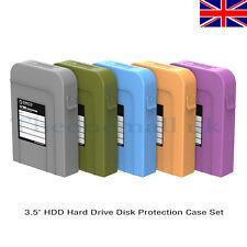 """5X ORICO PHI-35 3.5 """"HDD Protector Almacenamiento en Disco Duro Sata HDD Carring caso UK"""