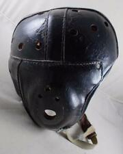 Vintage Leather Football Helmet w/ Strap c.1930 or 40's AIRLITE Cushion Rubber