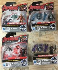 "Marvel Avengers Age of Ultron 4 Sets 2"" Thor Iron Man Nick Hawkeyevs Sub-Ultron"
