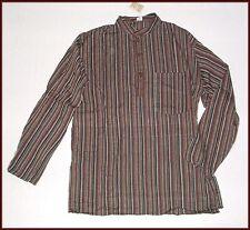 NEU* XL* Nepal FISCHER Hemd KURTA HIPPIE GOA Indien ETHNO Fisherman Shirt * XL *