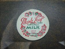 Vintage Milk Bottle Cap, Ontario Canada, Maple Leaf Dairy Fort William, Mint!