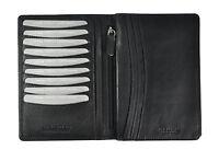 Leder Brieftasche Passhülle Etui Kreditkartenetui Hülle Jockey Club RFID Schutz
