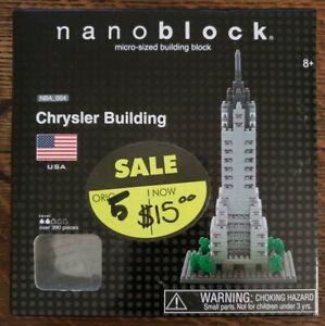 NEW Nanoblock Chrysler Building Micro-Sized Building Block Set NBA-004