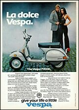 1979 Vespa Italian scooter cycle P200E couple vintage photo print ad ads37