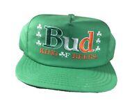 Bud King Of Beers Vintage Irish Shamrock Snapback Hat Made In USA