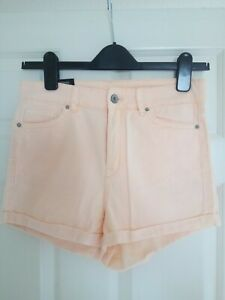 BNWOT size 10 peach cotton jeans shorts from Divided at H&M