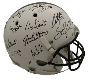 Penn State Nittany Lions Linebacker U Signed Replica Helmet 10 Sigs JSA 12721