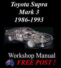 TOYOTA SUPRA MK.3 MA70 7MGE 7MGTE 1986-1993 WORKSHOP MANUAL DIGITAL DOWNLOAD