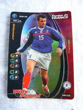 Carte Football Champion FOIL Wizards 2001-02 Willy Sagnol Maillot Bleu