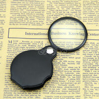 Mini Pocket 5X 45mm Folding Jewelry Magnifier Magnifying Eye Glass Loupe Lens