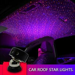 Auto Roof Ceiling Decoration Colourful LED Star Night Lights (Red+blue)