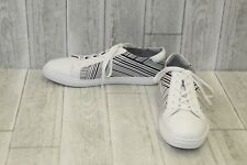 Kenneth Cole New York Kam Stripes Leather Sneakers, Men's Size 12M, White/Black